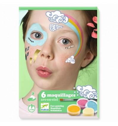TĘCZA Zestaw do malowania twarzy DJECO
