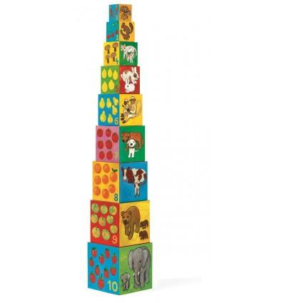 Piramida Wieża z klocków Przyjaciele Djeco