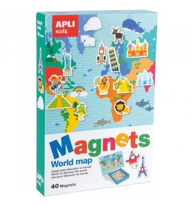 Mapa Świata magnetyczna układanka Apli Kids