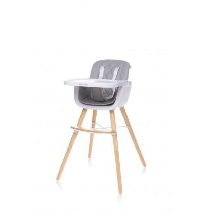 Krzesełko do karmienia Scandy Light Grey