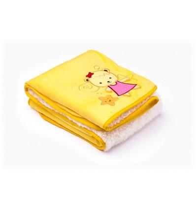 Sensillo kocyk dwustronny żółty 75*100