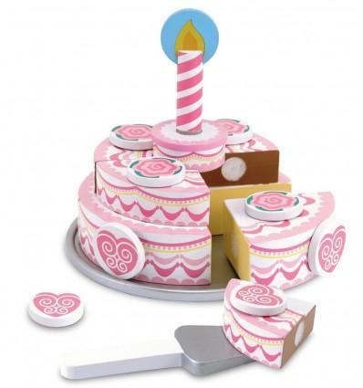 Piętrowy Drewniny Tort Urodzinowy Melissa