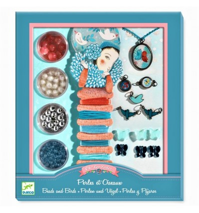 Perły i ptaki - zestaw do biżuterii Djeco 8+