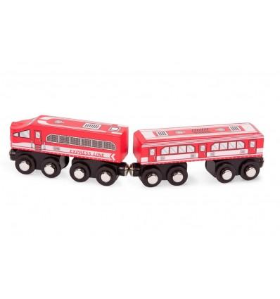 Pociąg lokomotywa + wagonik czerwony B.Toys
