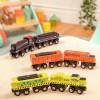 Pociąg lokomotywa + wagonik żółto - zielony B.Toys