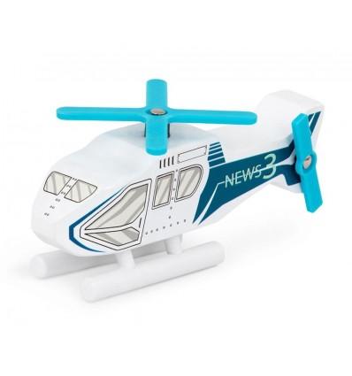 Helikopter drewniany pojazd Wood & Wheels B.Toys
