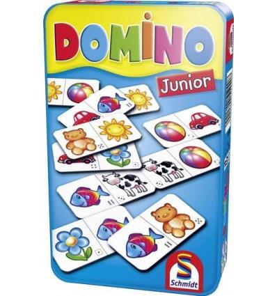 DOMINO JUNIOR gra podróżna w puszce Schmidt Spiele