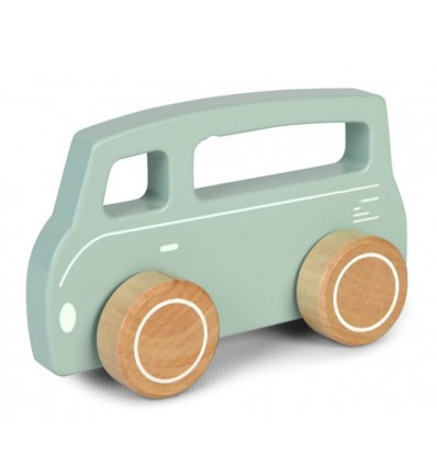 Autko drewniane Van kolor miętowy Little Dutch