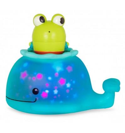 Świecący wieloryb z pasażerem sikawką B.Toys