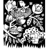 Kolorowanka welurowa Wiosna 10 kart 3+ Auzou