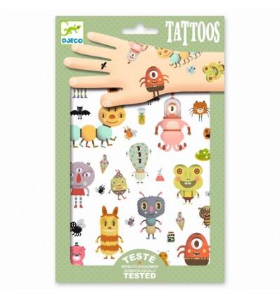 Tatuaże metaliczne Potworki Djeco