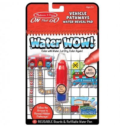 Kolorowanka wodna Water Wow! Ścieżki Pojazdy