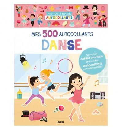 Taniec Baletnice zeszyt z naklejkami 500 szt Auzou