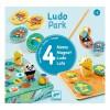 Zestaw 4 gier LudoPark lotto memo wyścig Djeco