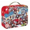 Puzzle obserwacyjne Straż Pożarna walizka Janod 6+