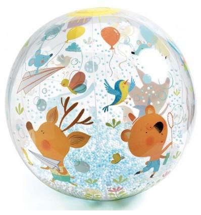 Piłka plażowa Bąbelki 35 cm Djeco 3+