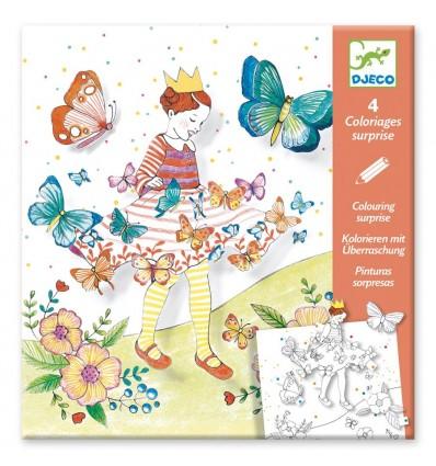 Pani Motylek Kolorowanka z niespodzianką Djeco 6+
