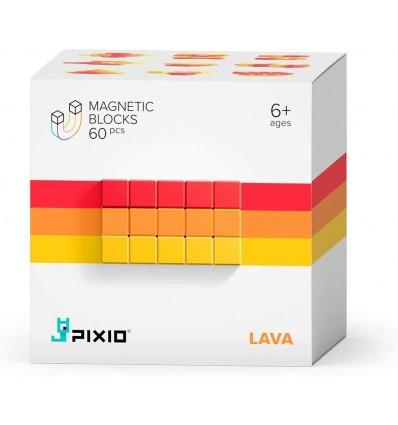 Klocki magnetyczne Pixio 60 el. Lava