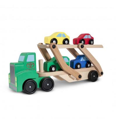 Drewniana Laweta Ciężarówka z autami Melissa