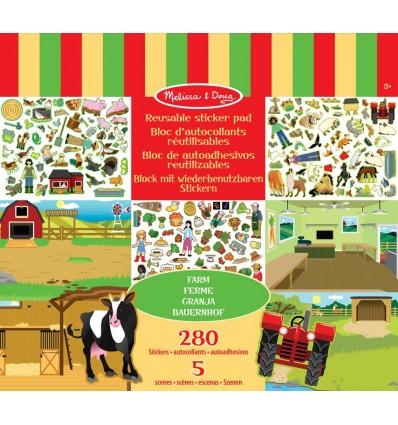Naklejki wielorazowe Farma Wiejskie Życie Melissa