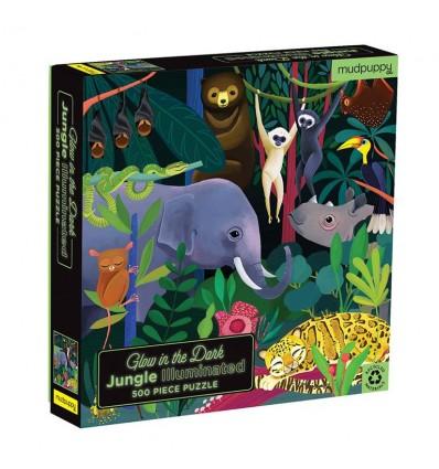 Puzzle świecące w ciemności Dżungla 500el Mudpuppy