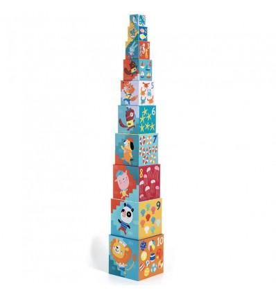 Piramida Wieża z klocków Plaża Djeco 12 m-cy+
