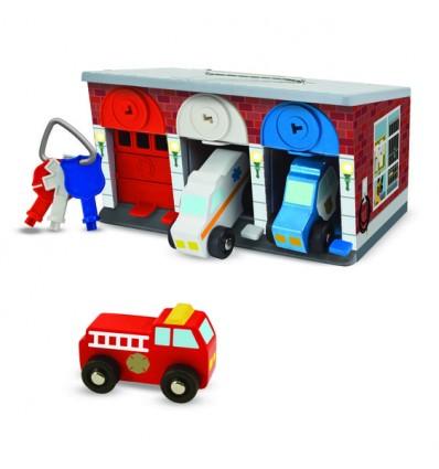 Garaż na klucz z pojazdami ratunkowymi  Melissa