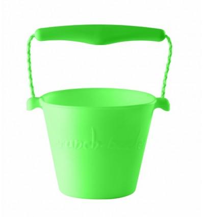 Zwijane wiaderko silikonowe zielone