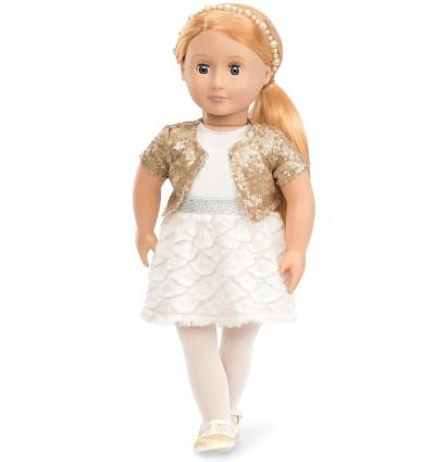 Lalka Hope blondynka w bolerku z cekinam 46 cm Our Generation