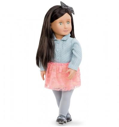 Lalka Elyse brunetka błękitne oczy 46 cm Our Generation