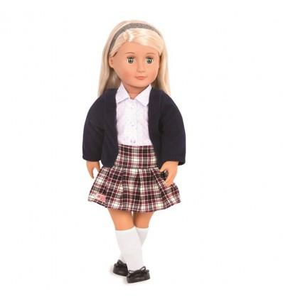 Lalka Emmeline blondynka w mundurku szkolnym 46 cm Our Generation