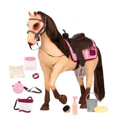 Koń bułany rasy Morgan z ruchomymi nogami i 50 cm Our Generation