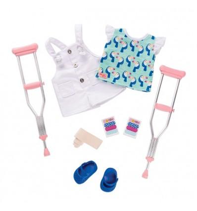 Zestaw ubranek z kulami ortopedycznymi  dla lalek 46 cm Our Generation Our Generation