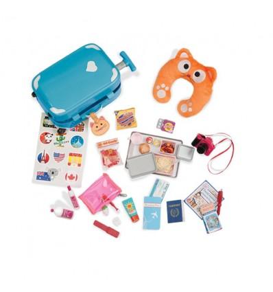 Akcesoria podróżne zestaw z walizką dla lalek 46 cm Our Generation Our Generation