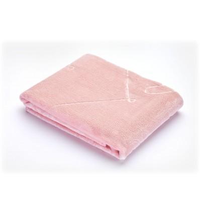Sensillo kocyk tłoczony różowy 80*100