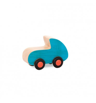 Wyścigówka turkusowa drewniane autko B.Toys
