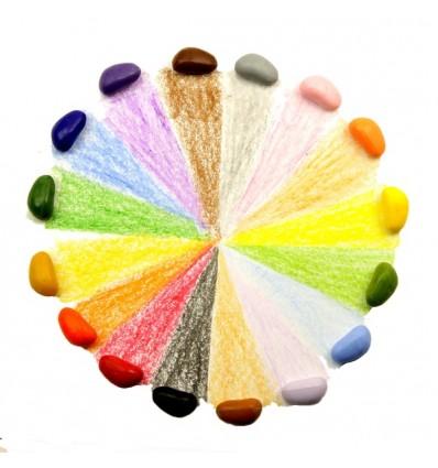 Kredki Crayon Rocks 16 kolorów woreczek aksamit