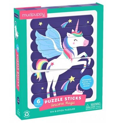 Puzzle patyczki Magiczne Jednorożce 24el. Mudpuppy