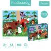 Puzzle sensoryczne miękkie elementy Las Mudpuppy